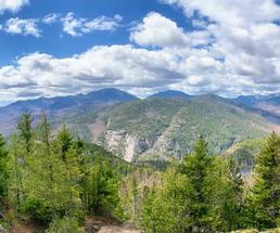 view from mountain summit