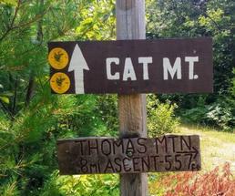 Cat Mountain sign