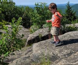 toddler on summit