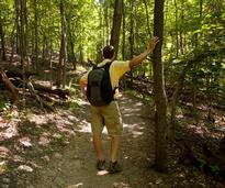 hiker wearing backpack