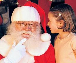 Santa with a little girl