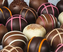 a mix of chocolate truffles