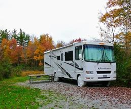 RV in the fall