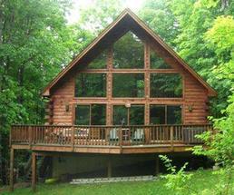 log house in the adirondacks