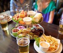 bar food and drinks