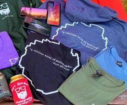 Adirondack tee-shirts folded
