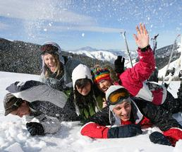 group of people in winter apparel