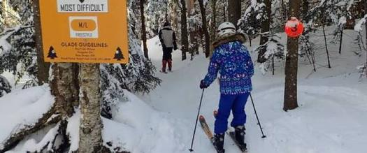glade skiing