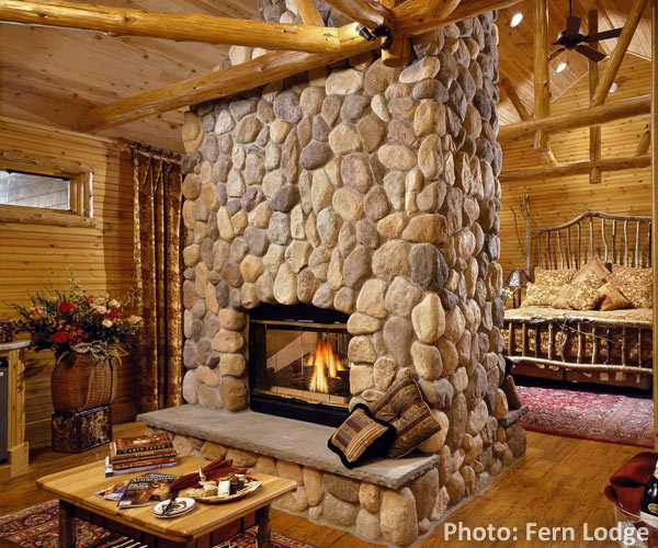 bed & breakfast room with fireplace