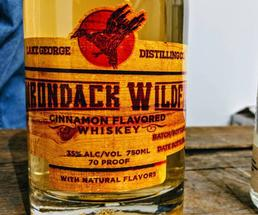 close up of bottle of Adirondack Wildfire
