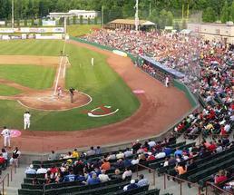 baseball with crowd