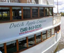 side of the Dutch Cruises boat