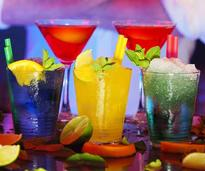 colorful cocktails on the bar