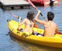 Teenagers Kayaking