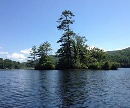 island on lake luzerne