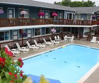 pool area at a motel