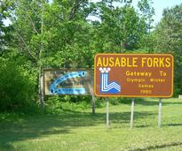 ausable forks sign