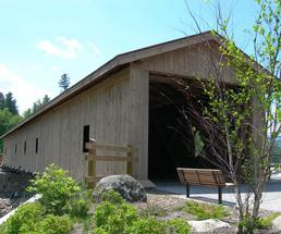 covered bridge in jay