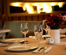 fireside restaurant table