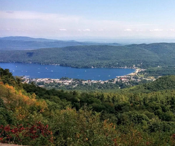 scenic view from Prospect Mountain