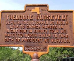 Theodore Roosevelt history sign
