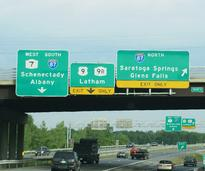 signs on the adirondack northway