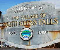 welcome to south glens falls sign
