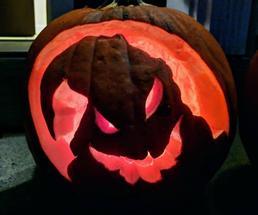 ghost on pumpkin
