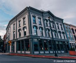 d.h. cowles and co building in downtown glens falls