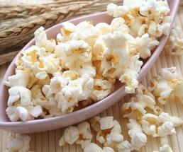 large spoonful of popcorn