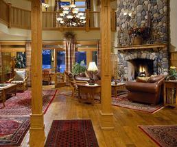 fireplace inside fern lodge