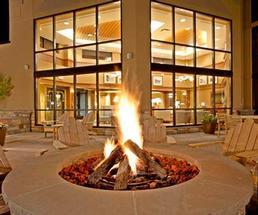 beautiful hotel fire pit