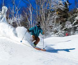 a skier at gore mountain