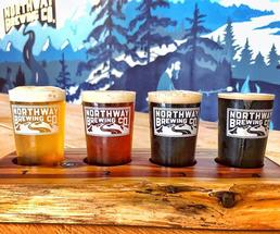 flight of beers from northway brewing company