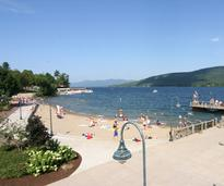 The beach at Shepard Park in Lake George