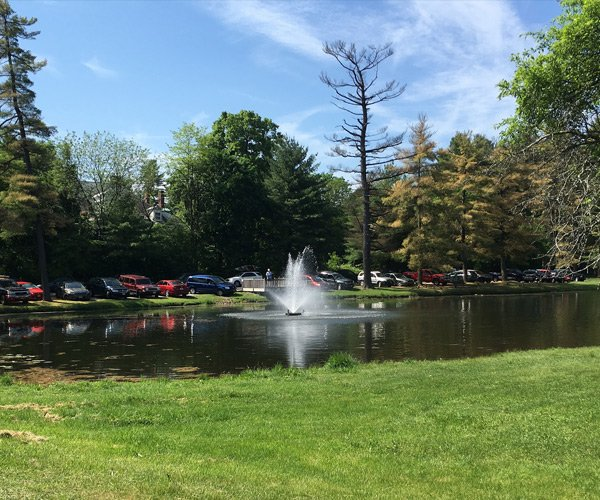 fountain in crandall pond