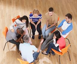 teens in a support group