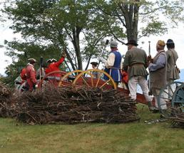 reenactment of french and indian war
