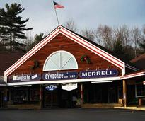Storefronts at the French Mountain Outlets in Queensbury NY