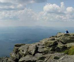 Top of a peak overlooking other high peaks