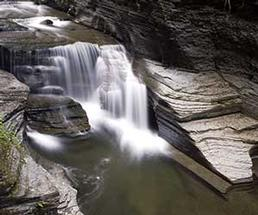 Waterfall at Robert H. Treman State Park in Ithaca NY