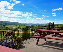 A view of the rolling hills surrounding Howe Caverns in Upstate New York