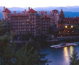 Mohonk Mountain House in the Hudson Valley at Night