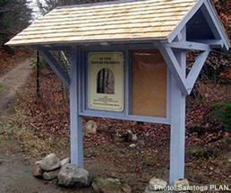 levine preserve trailhead sign