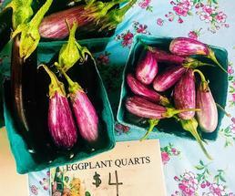 eggplants at farmers market