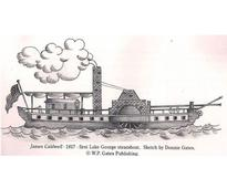 sketch of James Caldwell steamboat