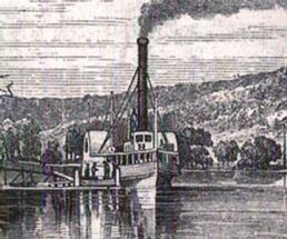 old drawing of the John Jay steamboat