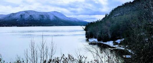 winter view of Lake George