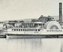 old photo of the first Minne Ha Ha steamboat