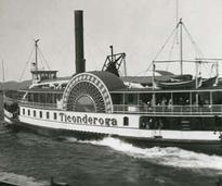 old photo of the original Ticonderoga steamboat
